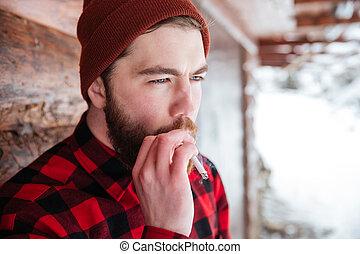 mann- rauchen, zigarette