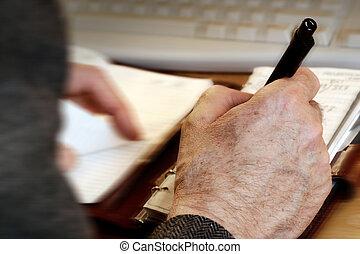 mann, schreibende