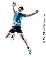 mann, spieler, handball, freigestellt