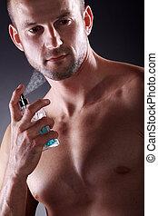 mann, sportliche , parfüm