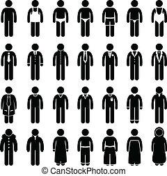 mann, tragen, kleidung, mode, stil