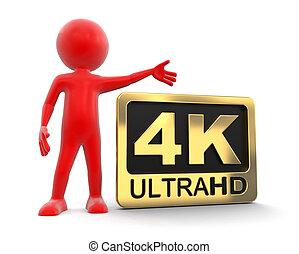 mann, und, ultra, hd, 4k, ikone