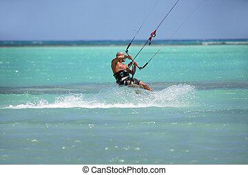 mann, windsurfing
