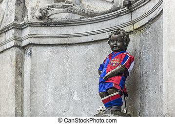 Manneken Pis in Brussels, Belgium. - Manneken Pis (literally...