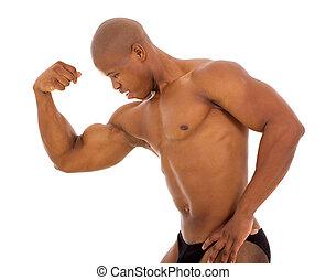 mannelijke , afrikaan, bodybuilder