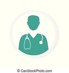mannelijke arts, pictogram