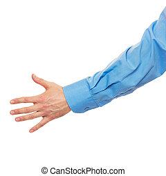 mannelijke , behulpzaam, hand