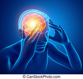 mannelijke , gevoel, hoofdpijn