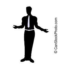 mannelijke , silhouette, zakelijk