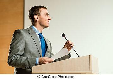 mannelijke , spreker