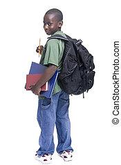 mannelijke student, jonge