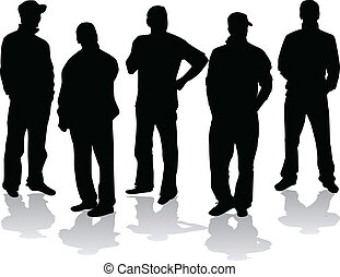 mannen, groep