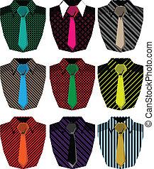 mannen, hemd, illustratie