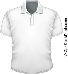 mannen, ontwerp, polo-shirt, mal
