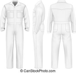 mannen, overalls