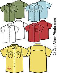 mannen, overhemden