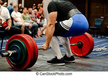 mannen, powerlifter, deadlift, competitie