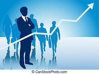 mannen, presentatie, achtergrond, handel vrouwen