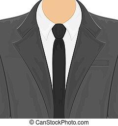 mannen, zwart kostuum