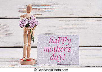 Mannequin and bunch. Spend Mother's day unforgettable.