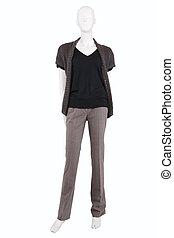 Mannequin dressed in casual female clothes