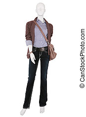 Mannequin dressed in female fashionable clothes