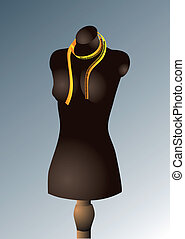 mannequin for sewing. female mannequin torso with measuring ...