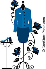 Mannequin for tailors with business dress in chanel style