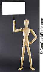 Mannequin holding board - Female mannequin displaying a...