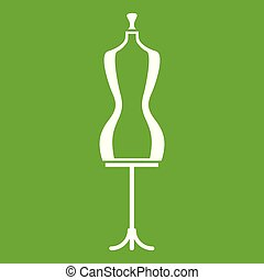 Mannequin icon green - Mannequin icon white isolated on...