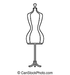 Mannequin icon, outline style - Mannequin icon. Outline...