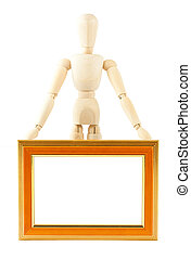 Mannequin in pose with frame