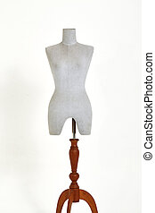 mannequin isolated on white background