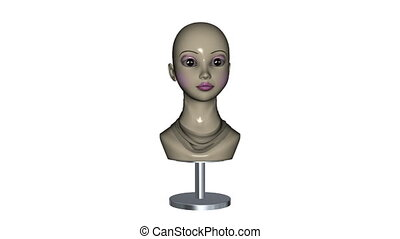 mannequin - neck image of woman