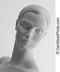 Mannequin Portrait with clipping path - Female head...