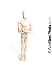 Mannequin - An artist mannequin isolated on a white...