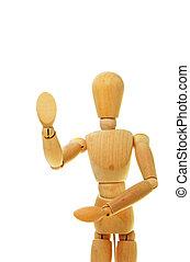 Mannequin - Artist\\\'s mannequin gestures stop against...