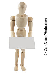 Mannequin with blank sign