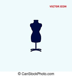 mannequin with stand vector icon