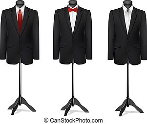 mannequins., différent, trois, vector., procès