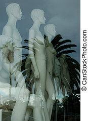 Mannequins in shop