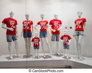 Mannequins in the store