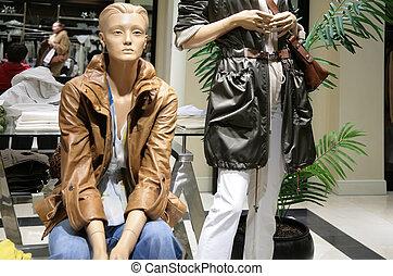 mannequins, loja