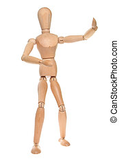 mannikin - Artists wooden dummy in a martial arts pose ...