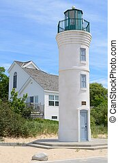 Robert H. Manning Memorial Lighthouse in Empire, Michigan