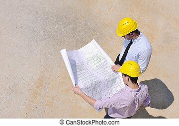 mannschaft, architekten, standort, baugewerbe