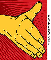 mano abierta