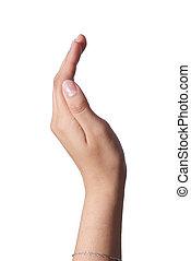 mano, actuación, el, persona, elaboración, arco, y, clavos...