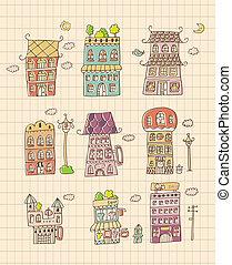 mano, casa, disegnare
