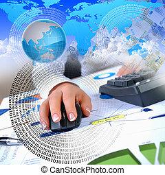 mano, computadora, humano, teclado